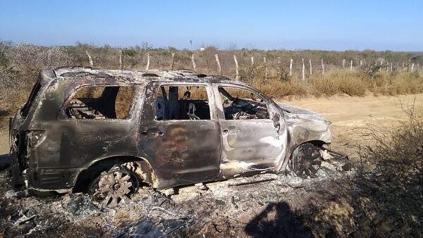 Al menos 19 cuerpos y vehículos calcinados fueron hallados en el poblado de Santa Anita del municipio de Camargo, Tamaulipas, el fin de semana.